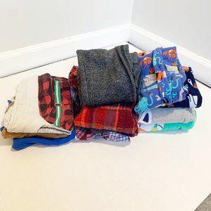 Boys Fall Winter Clothing Lot 10 items Size XS 4/5 Shirts, Sweats, Pajamas